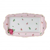 New Country Roses Pink Vintage Sandwich Tray (22242)