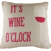 Evans Lichfield Wine o'clock Cushion (22933)