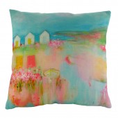 Evans Lichfield Beach Huts Cushion (22942)