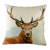 Stags Head Velvet Cushion (22950)