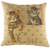 Evans Lichfield Square Cats Cushion (22952)