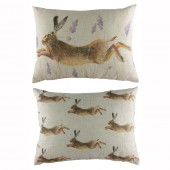Evans Lichfield Leaping Hare Cushion (22954)