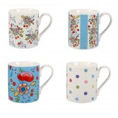 Hippie Floral Mugs- Set of 4 (22988)