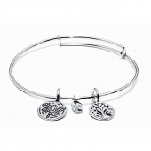 Life Collection Tree Of Life Rhodium Plated Bracelet (23003)