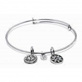 Life Collection Mantra Rhodium Plated Bracelet (23011)