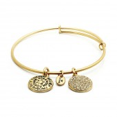 Good Fortune Birthstone Collection April Diamond Gold Plated Bracelet (23030)