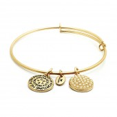 Good Fortune Birthstone Collection June Pearl Gold Plated Bracelet (23034)