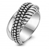 Silver Collection Sterling Silver Twist Ring (23113)