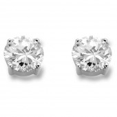 Silver Collection Silver Stud Earrings (23126)