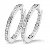 Silver Collection Zirconia Hoops (23127)