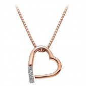 Just Add Love Rose Gold Plated Pendant (23169)
