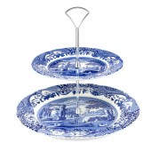 Blue Italian Tier Cake Stand (23211)