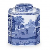 Blue Italian Tea Caddy (23219)