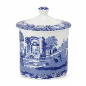 Blue Italian Large Stone Jar (23221)