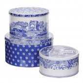Blue Italian Cake Tins- Set of 3 (23238)