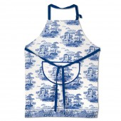 Blue Italian Cotton Drill Apron (23262)