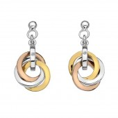 willow Rose and Yellow Gold Plated Earrings (23264)
