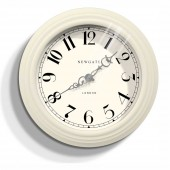 Newgate Clocks Dormitory Linen White Wall Clock (23387)