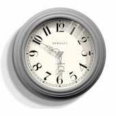 Newgate Clocks Dormitory Posh Grey Wall Clock (23389)
