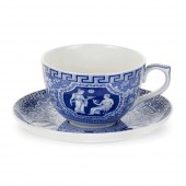 Blue Room Greek Jumbo Cup & Saucer (23411)