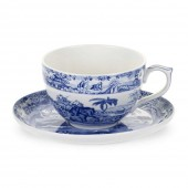Blue Room Indian Sporting Jumbo Cup & Saucer (23413)