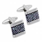 Unique Jewellery Mother of Pearl/Onyx Cufflinks (23504)
