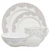 Monsoon by Denby Filigree Silver 16 Piece Starter Set (23530)