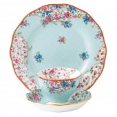 Candy Collection Sitting Pretty Teacup, Saucer and Plate (23606)