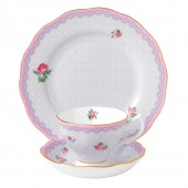 Love Lilac Teacup, Saucer and Plate (23607)