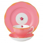 Candy Collection Sweet Stripe Teacup, Saucer and Plate (23608)