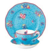 Candy Collection Honey Bunny Teacup, Saucer and Plate (23609)