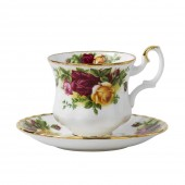 Old Country Roses Coffee Cup and Saucer (23646)