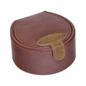 Jacob Jones Cufflink Box Tan & Check (23684)