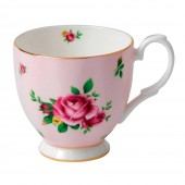 New Country Roses Pink Footed Vintage Mug (23721)