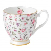 Rose Confetti Footed Vintage Mug (23730)