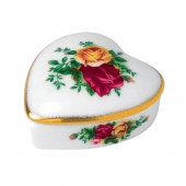 Old Country Roses Heart Shaped Trinket Box (23768)