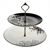 Monsoon by Denby Chrysanthemum 2 Tier Cake Stand (23859)