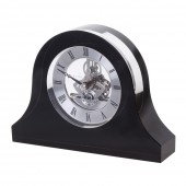Dartington Crystal Black Mantle Clock (24036)