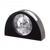 Dartington Crystal Black Half Moon Clock (24038)