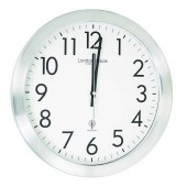 London Clock Company White RC Wall Clock - 35 cm (24285)