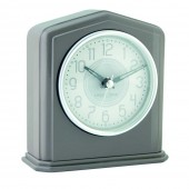 London Clock Company Warm Grey Mantel Clock - 14 cm (24292)