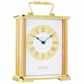 Polished and Brushed Metal Case Carriage Clock- 18.5 cm (24299)