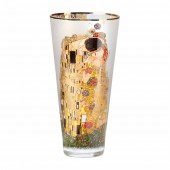 Goebel 30cm Glass Vase - Klimt The Kiss (24491)