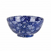 Blue Calico 16cm Small Footed Bowl (24548)