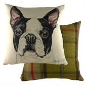 Evans Lichfield Boston Terrier Cushion (25077)