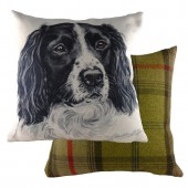 Evans Lichfield Black Springer Spaniel Cushion (25078)