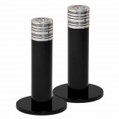 Wedgwood Noir Candlesticks 15cm - Set of 2 (25096)