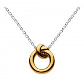 Gold Plated Amity Knot Necklace (25269)