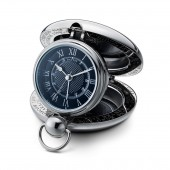 Voyager Clock in Black (25304)