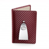 Continental Credit Card & Money Clip - Burgundy (25311)
